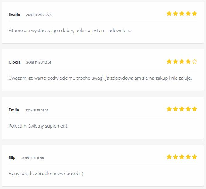 Opinie o Fitomesan z forum